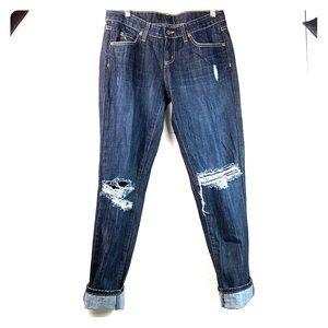 LF Carmar denim boyfriend jeans distressed, EUC 27